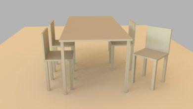Photo of 立方体のオブジェクトを使ってシンプルなテーブルと椅子を作ってみよう!