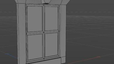 Photo of [Cinema 4D] 押し出しを使って窓のフレームを作ってみよう!