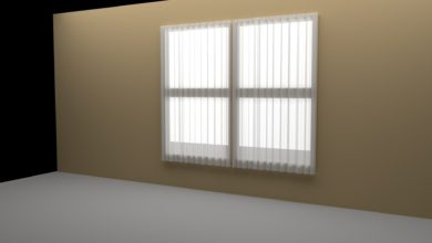 Photo of [Cinema 4D] スプラインを使って簡単なカーテンをモデリングしてみよう!
